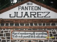 Panteon de Juarez, Chapultepec