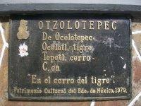 Placa en Palacio de Gobierno, Otzolotepec