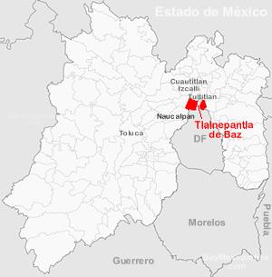 Tlalnepantla Mexico Map.Tlalnepantla De Baz Sate Of Mexico