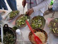 Tlayudas hechas con masa verde